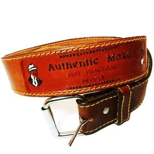 Authentic Make For Practical People Leather Belt S